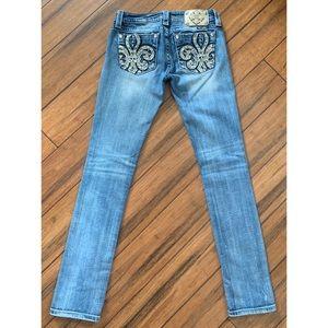 Miss Me Jeans - Miss Me Straight Leg Jeans Medium Wash 26 waist